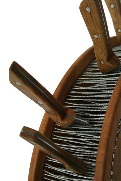 eine Aufbewahrung für Küchenmesser