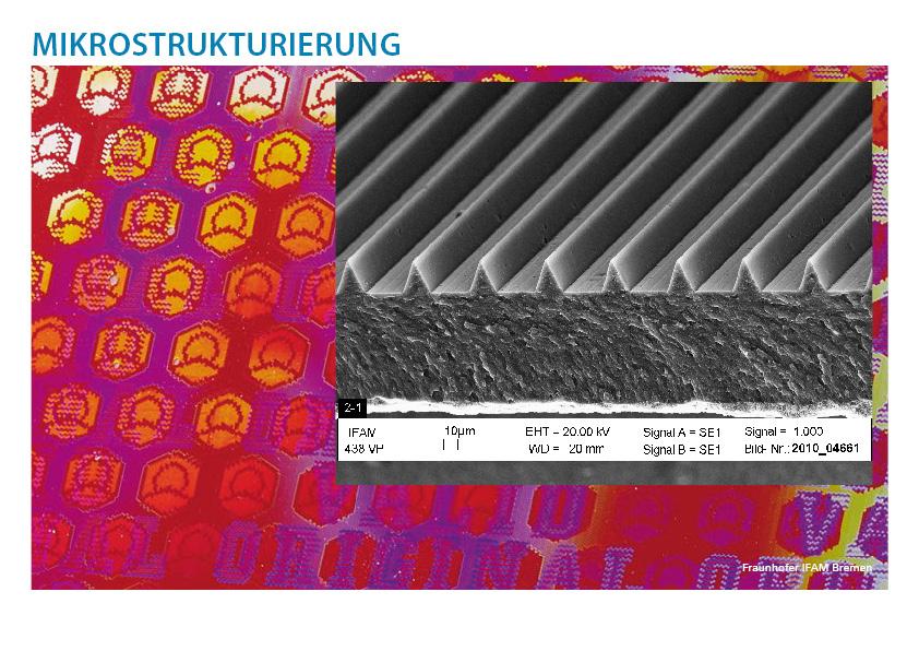 Mikrostrukturierung - Das Auftragen von Strukturen in Lackoberflächen mit anschließenden Füllen und Aushärten mit UV-Licht
