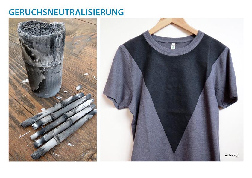 Geruchsneutralisierung - Bambuskohle arbeitet wie ein Aktivkohlefilter, was zur Neutralisierung unangenehmer Gerüche an Kleidung oder Sporttaschen führt